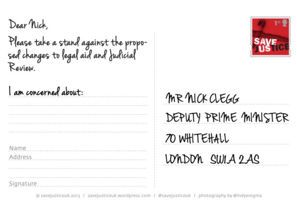 Design4Justice postcard back