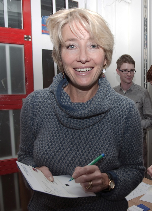 Emma Thompson signing