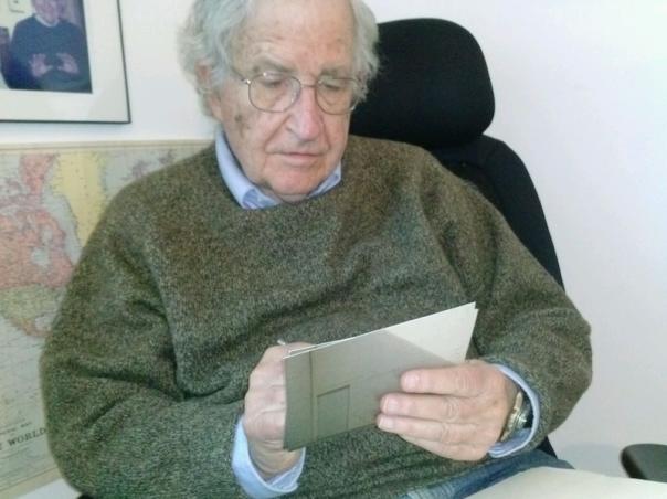 Noam Chomsky signing